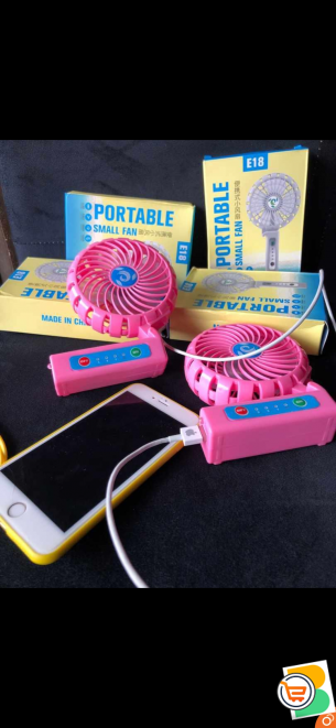 Rechargeable fan with power bank