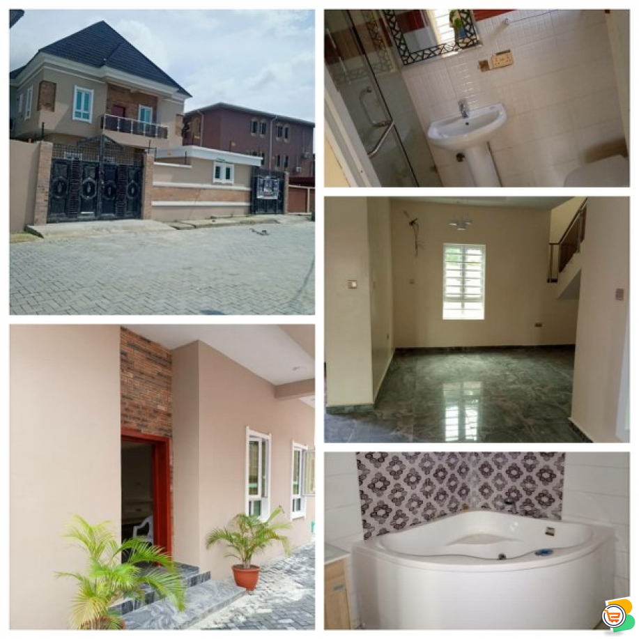 5 Bedrooms fully Detached Duplex with self contained BQ at Canaan Estate, Lekki - Epe Expy